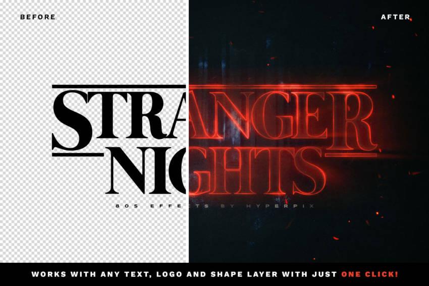 Stranger Things Text Effect (.Psd) скачать бесплатно
