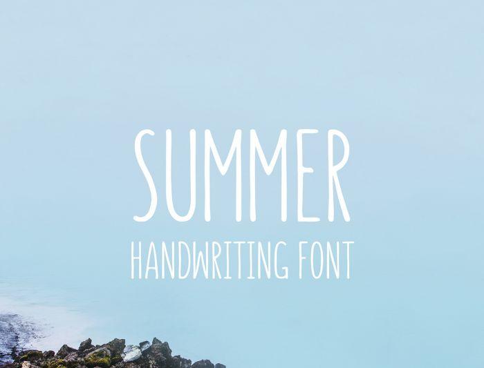 Шрифт Summer скачать бесплатно