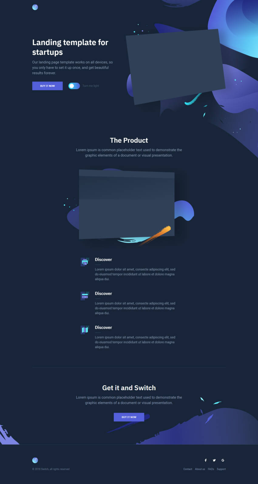 Switch Day & Night template (HTML5/CSS3) скачать бесплатно