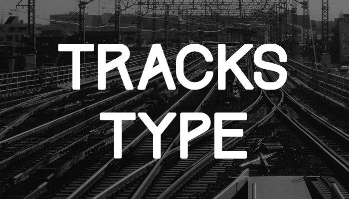Шрифт Tracks скачать бесплатно