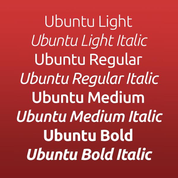 Шрифт Ubuntu скачать бесплатно