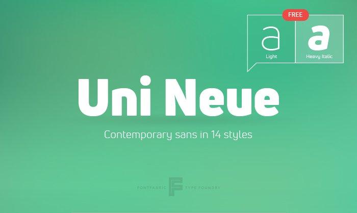 Шрифт Uni Neue скачать бесплатно