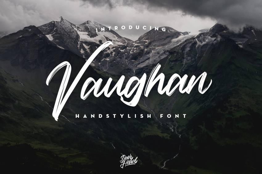 Шрифт Vaughan Handstylish скачать бесплатно