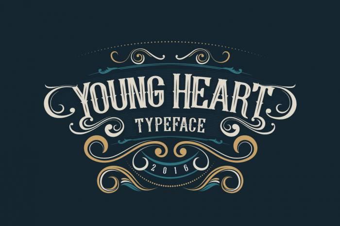 Шрифт Young Heart скачать бесплатно